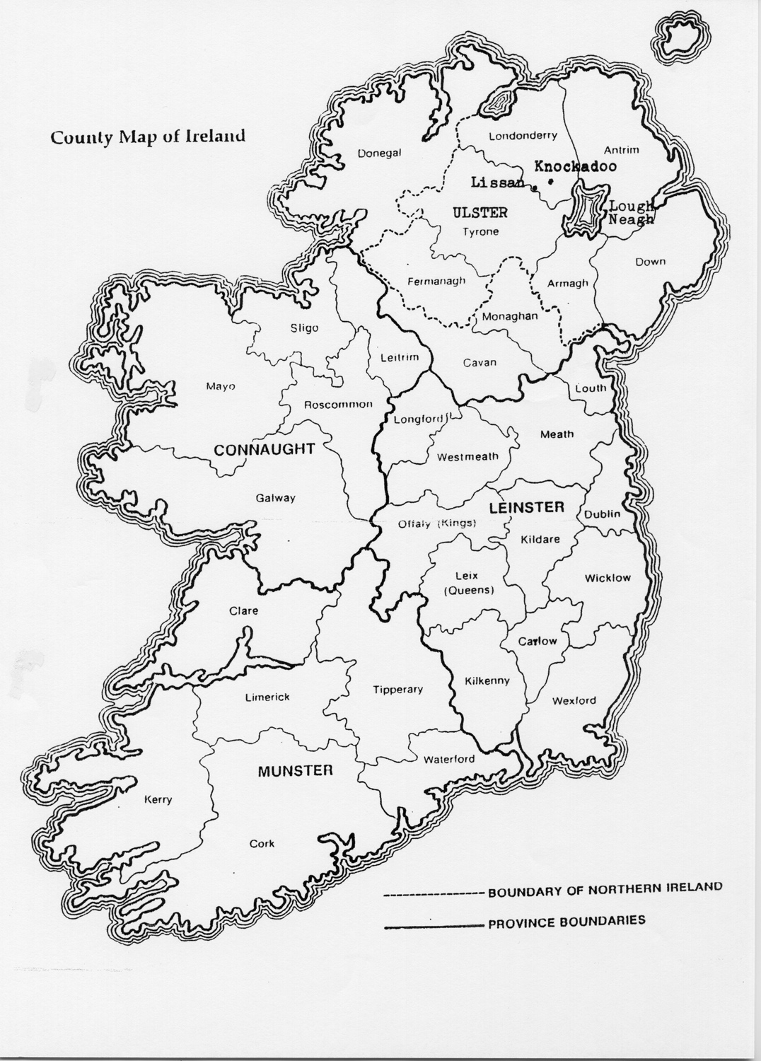 Vibrant image pertaining to printable maps of ireland