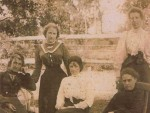 Far right standing is Eva Worboys c.1912 others unidentified